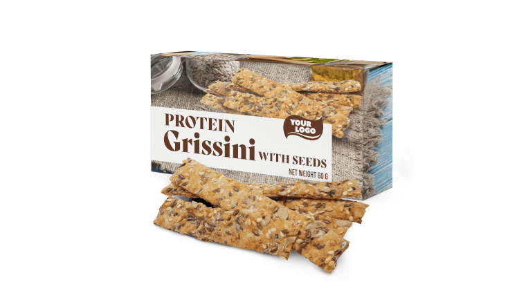 PROTEIN GRISSINI WITH SEEDS