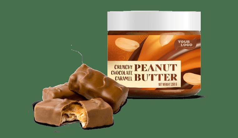 CRUNCHY CHOCOLATE CARAMEL PEANUT BUTTER