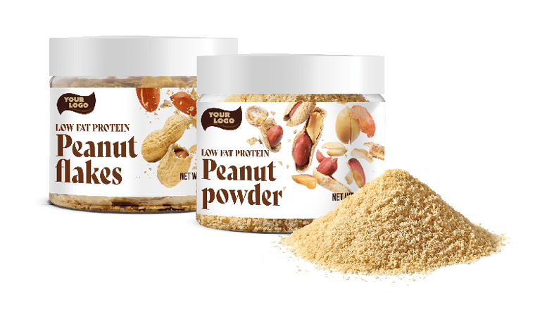 LOW FAT PROTEIN PEANUTS POWDER AND FLAKES