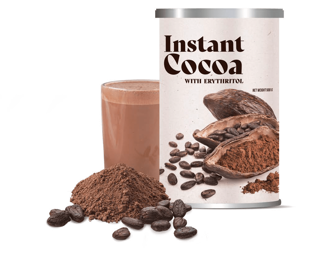 INSTANT COCOA WITH ERYTHRITOL