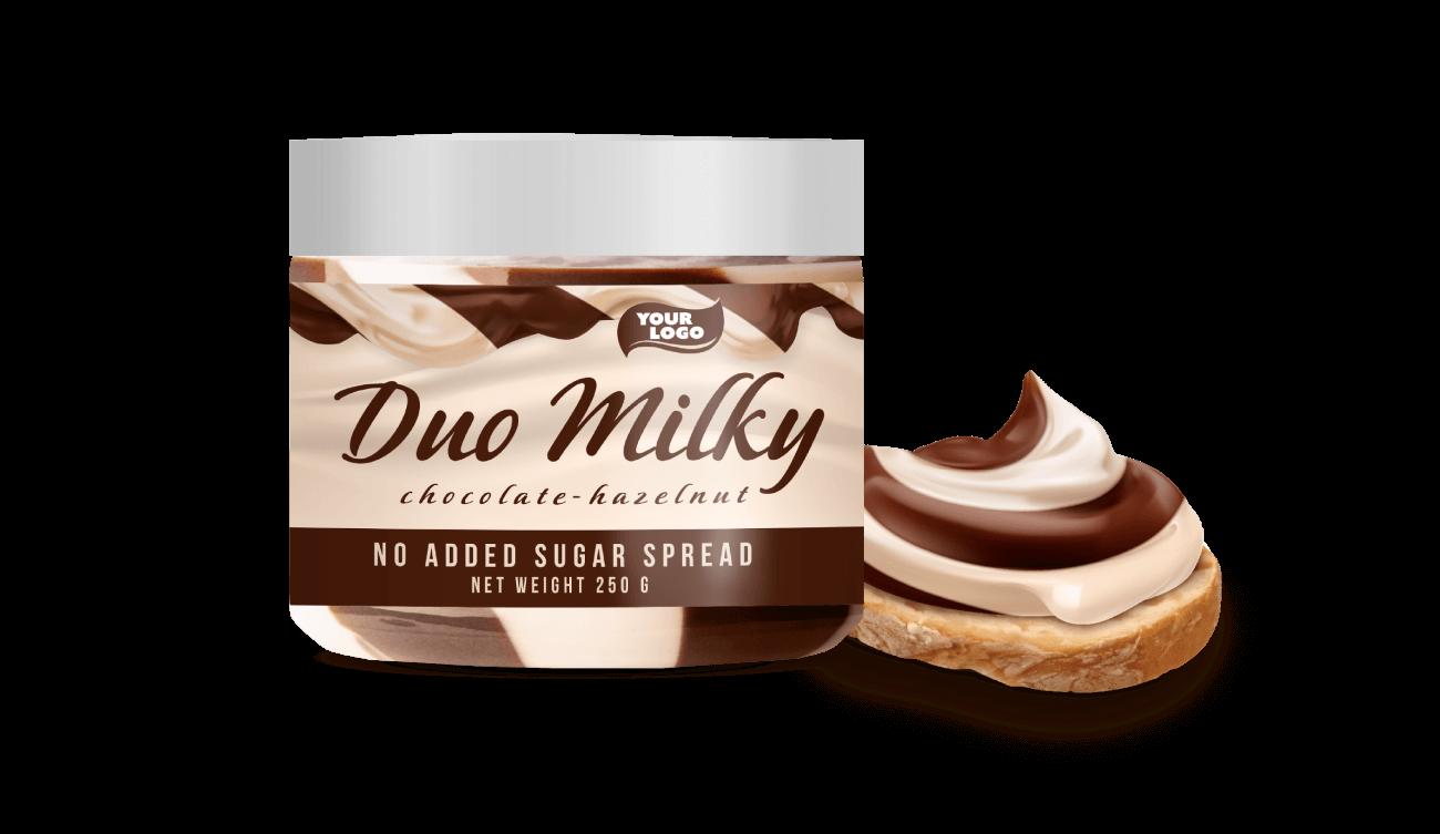 CHOCOLATE – HAZELNUT MILKY DUO SPREAD