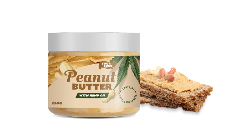 PEANUT BUTTER WITH HEMP OIL (CONTAINS PHYTOSUBSTANCES)